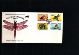 Zimbabwe 1995 Insects FDC - Schmetterlinge
