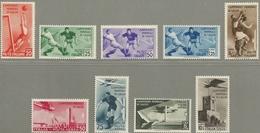 Italia - Mundiales Italia 1934 - 339/343 + A-64/67 - Nuevo - Fußball-Weltmeisterschaft