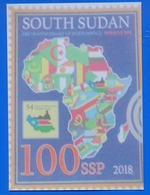 Südsudan SOUTH SUDAN Postcard New Stamp Proposal, Mint, Locally Published Soudan Du Sud #7 - Soudan