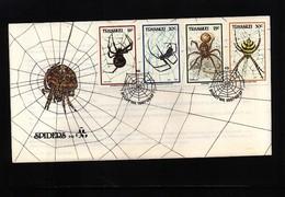 Transkei 1987 Spiders FDC - Spinnen