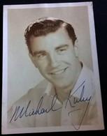 Canadian Actor MICHAEL KIRBY Autograph Hand Signed Dedicacee - Photo 1950's - Fotos Dedicadas
