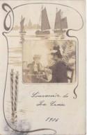 ** CARTE PHOTO / REAL PHOTO 1906 ** LA CROIX ( VALMER ) GASSIN : Deux Femmes Prenant Un Verre ... - CPA - - France