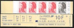 Carnet Mixte 1501 Liberté 2,20 & 0,40 Daté 23.2.87 - Usage Courant
