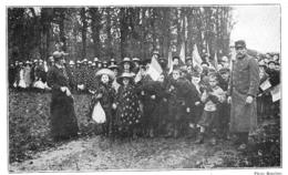 WW1 14-18 Alsace Groupe D'enfants Se Rendant à L'école   1915 - 1914-18