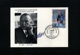 Dahomey 1967 Konrad Adenauer FDC - Europäischer Gedanke