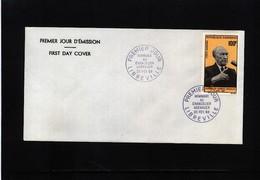 Gabon 1968 Konrad Adenauer FDC - Europäischer Gedanke