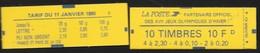 Carnet Mixte 1502 Briat 2,30 & 0,20 Daté 21.2.90 - Usage Courant