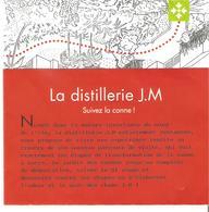RHUM DISTILLERIE J.M MACOUBA  MARTINIQUE PLAN DE VISITE DE L'USINE RENOVEE ET DES CHAIS - Autres