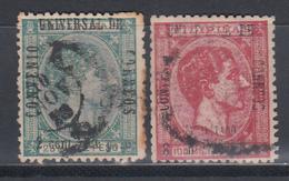 1876 - 1877 , Edifil Nº 54, 55, - Filipinas