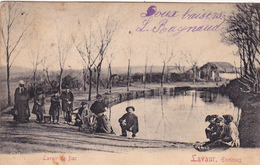 CPA,Animée (81) FIAC Environs De LAVAUR  Le Lavoir Avec Personnages (2 Scans) - France