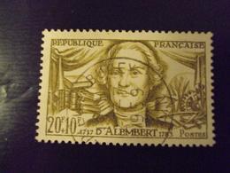 "A Partir De 1945 - Timbre Oblitéré N° 1209     ""  Alembert     ""        Net 1 - France"