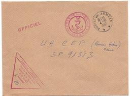 """POSTE NAVALE  GABARE  """"LOCUSTE """"   CACHET POSTES AUX ARMEES  DU 4 10 67  OFFICIEL - Marcophilie (Lettres)"""