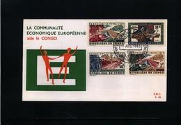 Republic Congo 1963 EU Help To Congo FDC - Europäischer Gedanke