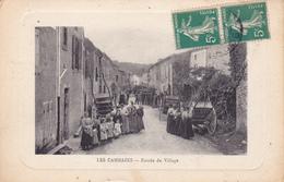 CPA,Animée (81) LES CAMMAZES Entrée Du Village (2 Scans) - France