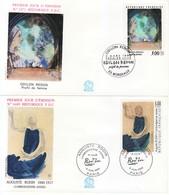 1990 - FRANCIA 2 FDC OPERE D' ARTE VEDI++++ - FDC