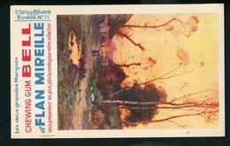 BUVARD:  CHEWING GUM BELL ET FLAN MIREILLE (5° SERIE BUVARD N° 71) - Buvards, Protège-cahiers Illustrés