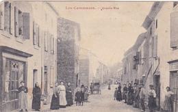 CPA,Animée (81) LES CAMMAZES Grande Rue Avec Personnages (2 Scans) - France
