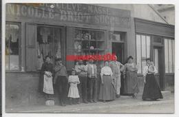 60 - Balagny Sur Therain - Carte Photo - Commerce Grande Rue Plan Rapproché Personnel - Ttb - Beau Document - Francia