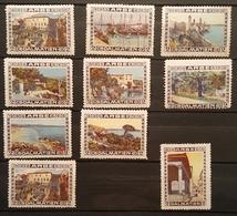 Lot De 10 Vignettes Anciennes - CROATIE - ARBE DALMATIEN (Dalmatie)/Reklamemarke /V1 - Erinnophilie