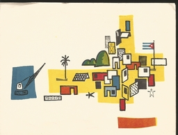 J) 1964 CUBA-CARIBE, PAINTING OF HOUSES, XF - Cuba