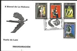J) 2009 CUBA-CARIBE, X BIENNIAL OF HAVANA, CENTENNIAL OF THE BIRTH OF WIFREDO LAM, ABSTRACT PAINTINGS, MULTIPLE - Cuba