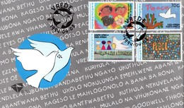 South Africa - 1994 Peace Children's Paintings FDC # SG 836-839 , Mi 922-925 - FDC