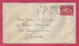 Scott #U525 - FDC - 2c Mount Vernon Embossed Envelope [#3872] - First Day Covers (FDCs)
