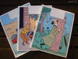 LOT 3 CAHIERS VIERGES ( HORS COMMERCE ) - TINTIN MILOU TOURNESOL DUPOND DUPONT ( HERGE ) ( VERS 1980 ) - Livres, BD, Revues
