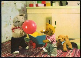 C2940 - TOP - Teddi Teddy - Steiff ?? - Glückwunschkarte - Reichenbach DDR - Spielzeug & Spiele