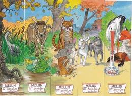 """MELUN MARQUE PAGE MARQUE PAGES 5 Marques Pages Puzzle, Bookmark, Signet, Illustrateur CARMONA """"FABLES DE LA FONTAINE"""" - Bookmarks"""