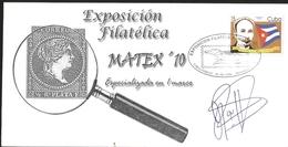 J) 2010 CUBA-CARIBE, PHILATELIC EXHIBITION, MATEX, SPECIALIZED IN A FRAMEWORK, CENTENARY OF THE WAR OF - Cuba