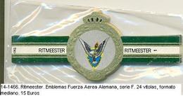 Vitolas Ritmeester. Emblemas Fuerza Aérea Alemana, Serie F. . FM. Ref. 14-1466 - Vitolas (Anillas De Puros)