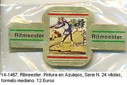 Vitolas Ritmeester. Pintura En Azulejos. Serie N . FM. Ref. 14-1467 - Bagues De Cigares