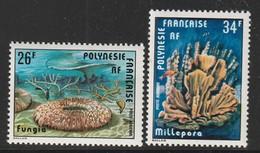 POLYNESIE - Poste Aérienne - PA N° 138/9 ** (1978) Coraux - Poste Aérienne
