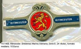 Vitolas Ritmeester. Emblemas Marina Alemana. Serie E . FM. Ref. 14-1468 - Bagues De Cigares