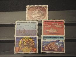 CONGO - 1984 PESCARE 5 VALORI -- NUOVI(++) - Congo - Brazzaville