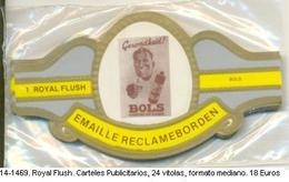 Vitolas Royal Flush. Carteles Publicitarios . FM. Ref. 14-1469 - Bagues De Cigares