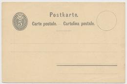 P12 - 1879 - Schweiz - Postkarte 5 Rappen - Unbeschrieben Und Ungelaufen - Entiers Postaux