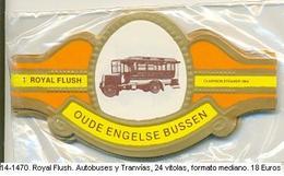 Vitolas Royal Flush. Autobuses Y Tranvías . FM. Ref. 14-1470 - Vitolas (Anillas De Puros)