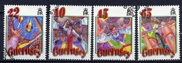 Guernesey - Guernsey 2002 Y&T N°931 à 934 - Michel N°913+916 à 918 (o) - Le Cirque - Guernsey