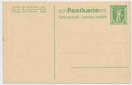 P34 - 1907 - Schweiz - Postkarte 5 Rappen - Unbeschrieben Und Ungelaufen - Entiers Postaux