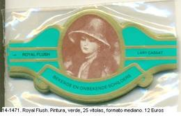 Vitolas Royal Flush. Pintura, Verde . FM. Ref. 14-1471 - Bagues De Cigares