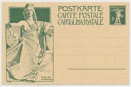 P38 - 1909 - Schweiz - Postkarte 5 Rappen - Unbeschrieben Und Ungelaufen - Entiers Postaux