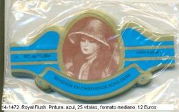Vitolas Royal Flush. Pintura, Azul . FM. Ref. 14-1472 - Bagues De Cigares