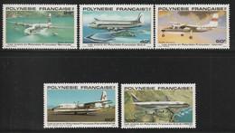 POLYNESIE - Poste Aérienne - PA N° 148/152 ** (1979) Avions - Poste Aérienne