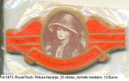 Vitolas Royal Flush. Pintura, Naranja . FM. Ref. 14-1473 - Bagues De Cigares