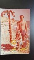 Azov Sea, USSR. Little Boy On The Beach Semi Nude Naked Old Vintage Original Real Photo 1990s - Personnes Anonymes