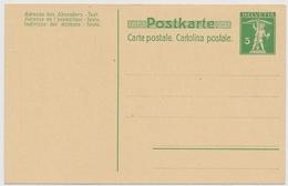 P36 - 1909 - Schweiz - Postkarte 5 Rappen - Unbeschrieben Und Ungelaufen - Entiers Postaux