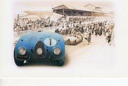 Bugatti Type 57G - 24 Heures Du Mans 1939 - Pilote: Jean-Pierre Wimille - Tableau De Francois Bruere (Art Card)  -  CPM - Le Mans