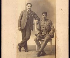 Fotografia Antiga SOLDADO PORTUGUES 1ªGrande Guerra 1917 PORTUGAL Vintage Real Photo SOLDIER WWI Ww1 War Military - Photos